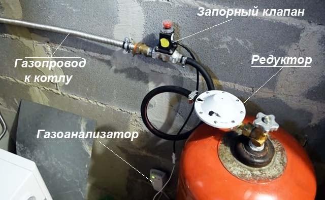 Как подключить пропановый баллон через клапан