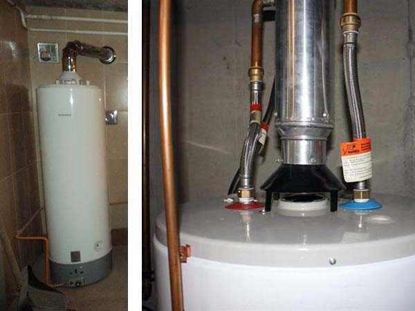 Подсоединение водонагревателя к дымоходу