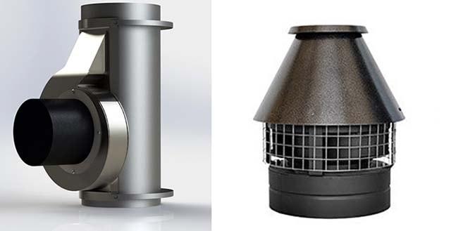 Вентилятори для встановлення на димову трубу