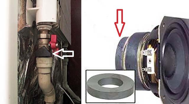 Как использовать магнит для герметизации трубного стыка