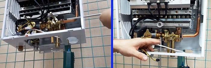 Как снять лягушку и газовый блок