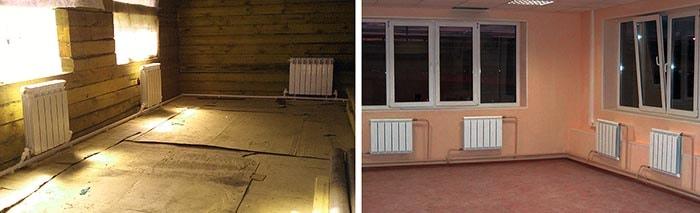 Монтаж ленинградского отопления в помещениях