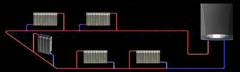 Однотрубная водяная система в загородном доме