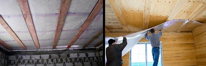 Монтаж пароизоляции на деревянное перекрытие