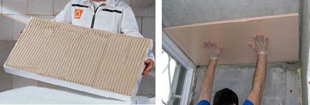 Как приклеить пенополистирол к перекрытию из бетона