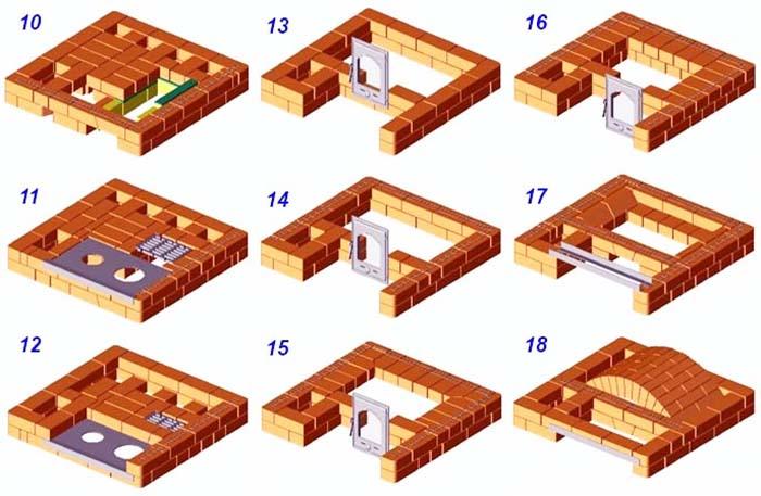 Кладочная схема уровни 10-18