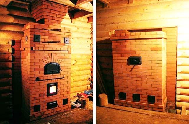 Размещение печки в деревянном доме