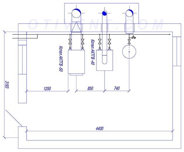 Креслення газової котельні з проекту