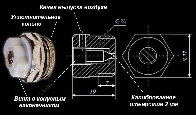 Как устроен игольчатый клапан сброса воздуха