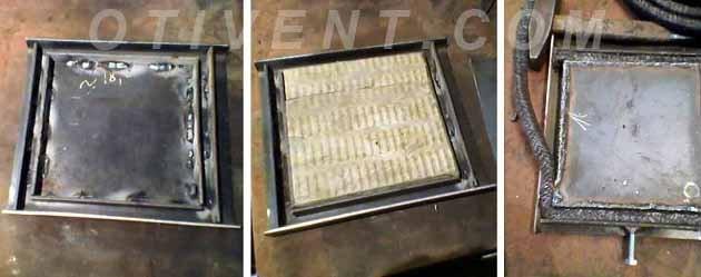 Как сделать дверцу металлической буржуйки
