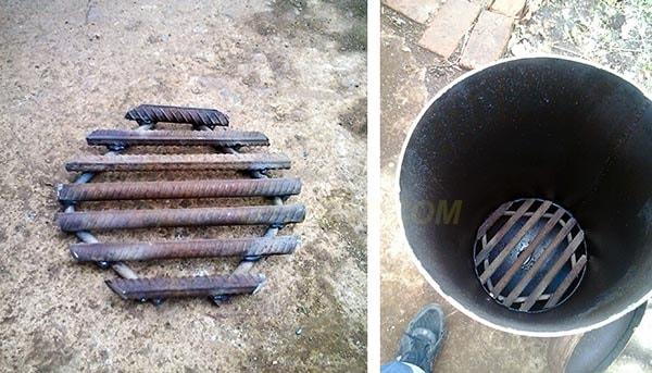 Сборка и монтаж колосниковой решетки из прутьев