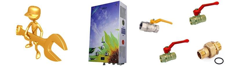 Монтируем проточный газовый нагреватель
