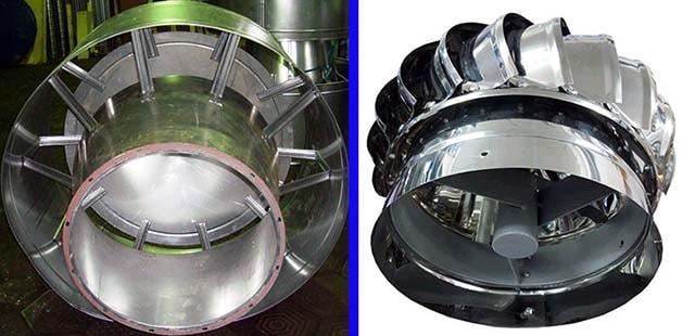 Вытяжной дефлектор — вид снизу