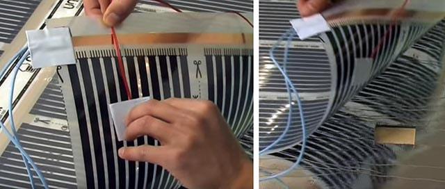 Монтаж температурного датчика под пленку