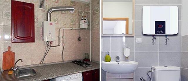 Газовая колонка или электрический водонагреватель