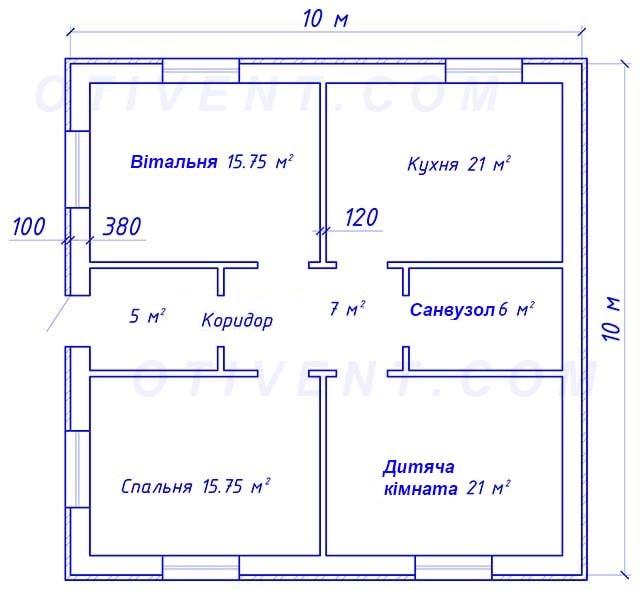 Планування одноповерхового будинку