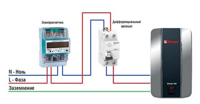 Как подключить проточный нагреватель к сети 220 В