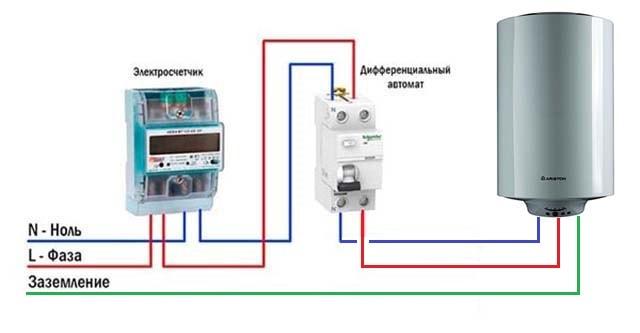 Схема электропитания домашнего бойлера
