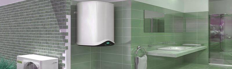 Накопительный электрический бойлер в ванной комнате