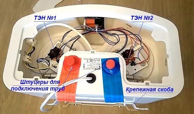 Плоская модель бойлера с двумя нагревателями