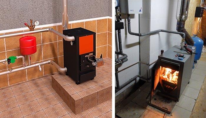 Котлы на солярке и твердом топливе – дрова, уголь