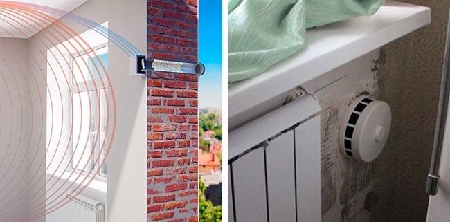 Як правильно ставиться припливний пристрій у стіну