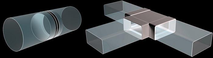 Способы стыковки пластиковых вентканалов