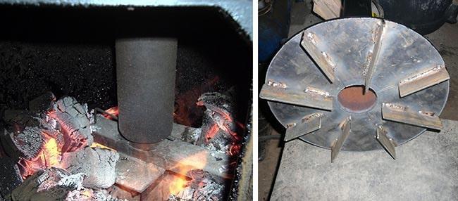 Поршень котла верхнего горения