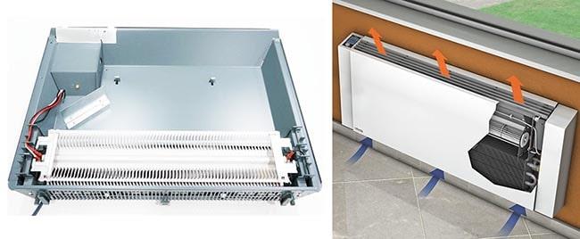 Устройство электрического конвекционного обогревателя