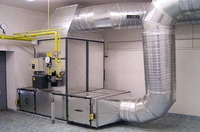 Промисловий агрегат повітряного обігріву