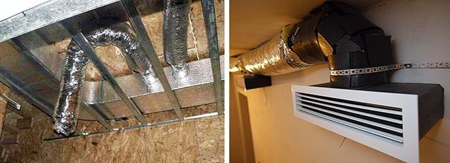 Монтаж повітропроводів в приватному будинку