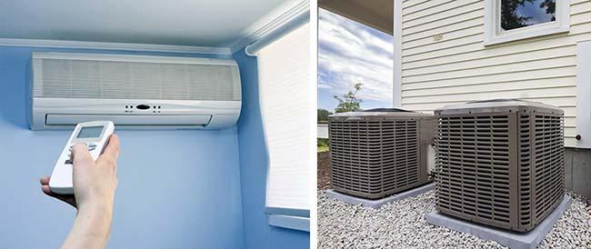 Опалення будинку тепловим насосом повітря-повітря