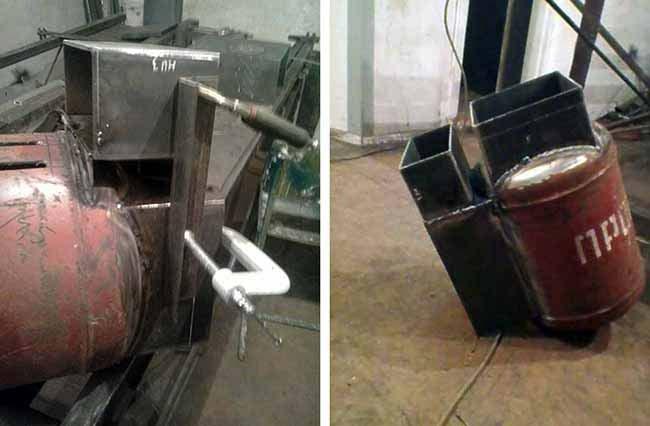 Як зробити зольник дров'яної печі