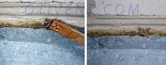Герметизация крыши полимерным составом