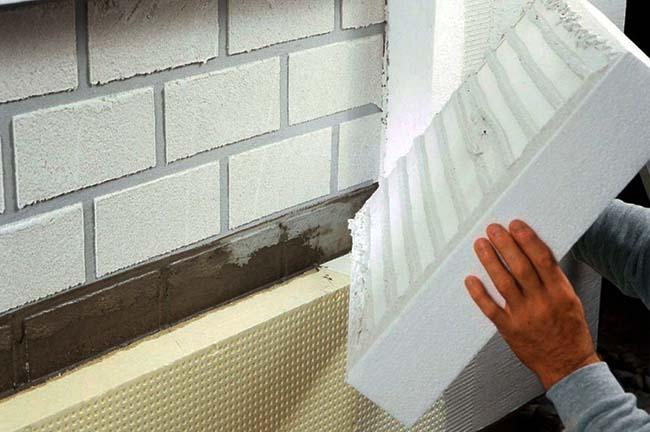Теплоизоляция наружной стены Пеноплексом