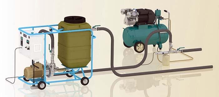 Оборудование для гидравлической промывки отопительных сетей