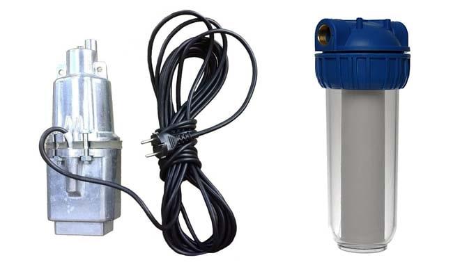 Насос и фильтр для промывки системы отопления