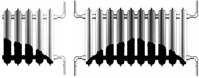 Загрязнение батарей отопления