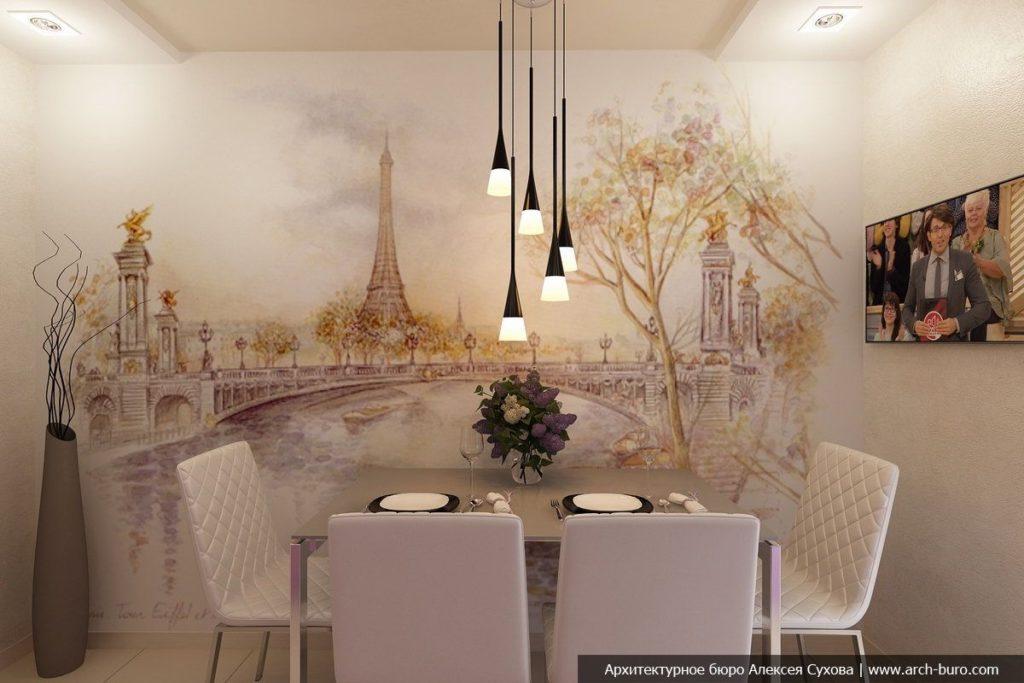 Фотообои на стены в кухню